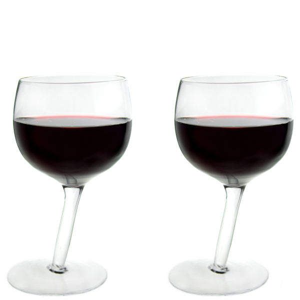 Tipsy Wine Glasses 2 Pack Iwoot