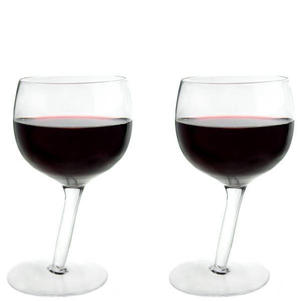 Tipsy Wine Glasses - 2 Pack