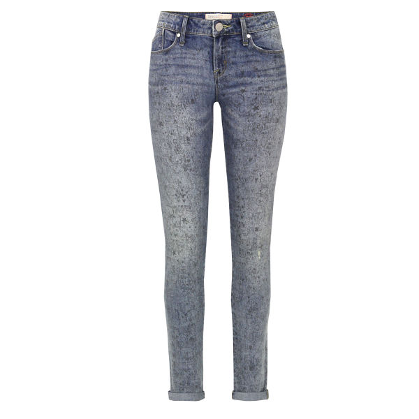 Marc by Marc Jacobs Women's M1122912 Rolled Slim Jeanius Ink Jeans - Light Wash