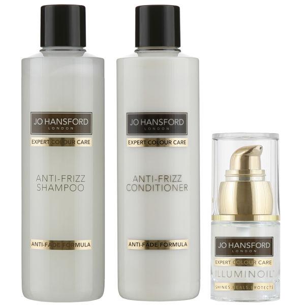 Shampooing, Après-shampooing Anti-frisottisExpert Colour Care de Jo Hansford (250ml) avec Mini Illuminoil (15ml)