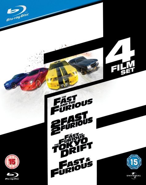 fast and furious 1 4 box set blu ray zavvi. Black Bedroom Furniture Sets. Home Design Ideas