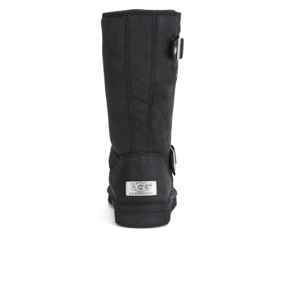 UGG Women's Sutter Waterproof Leather Buckle Boots - Black: Image 3