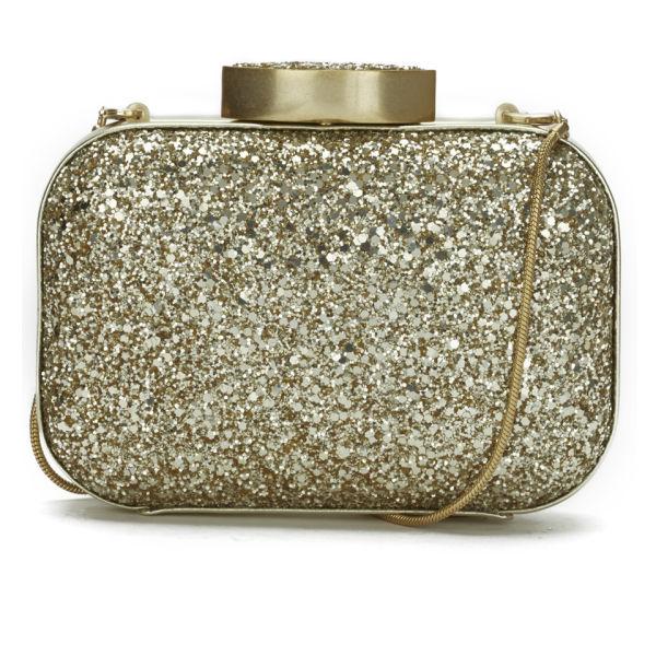 Lulu Guinness Glitter Flossie Clutch Bag - Gold