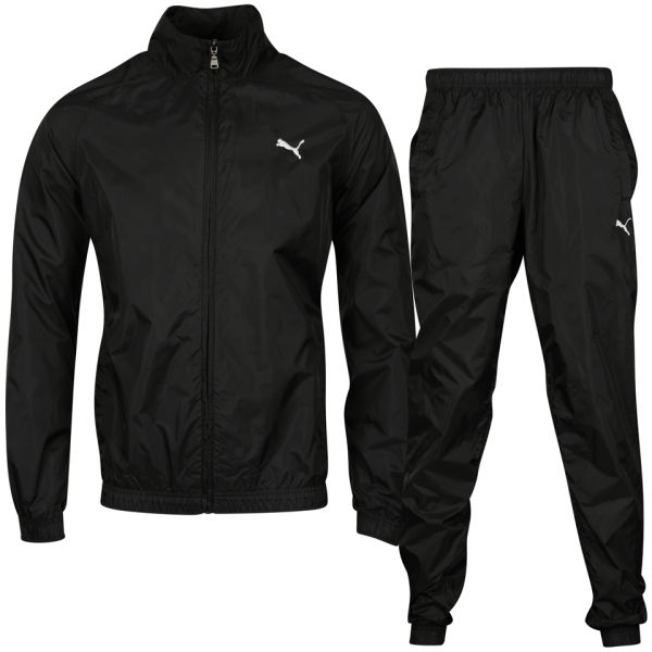 Puma Men S Woven Tracksuit Black Sports Amp Leisure Zavvi