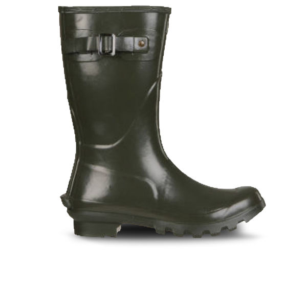 Barbour Women's Short Gloss Wellington Boots - Olive