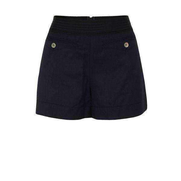 Marc by Marc Jacobs Women's 000 Grant Ink Gabardine Shorts - Blue