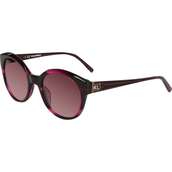 Karl Lagerfeld Round Sunglasses - Purple Marble