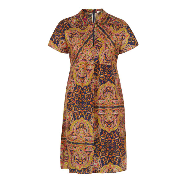 Carven Women's 260-R04 Shantung Print Dress - Ink