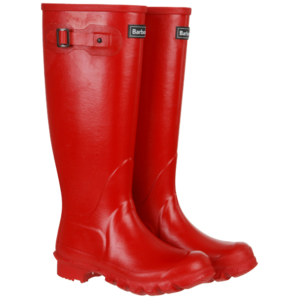 Barbour Women's Town and Country Wellington Boots - Red