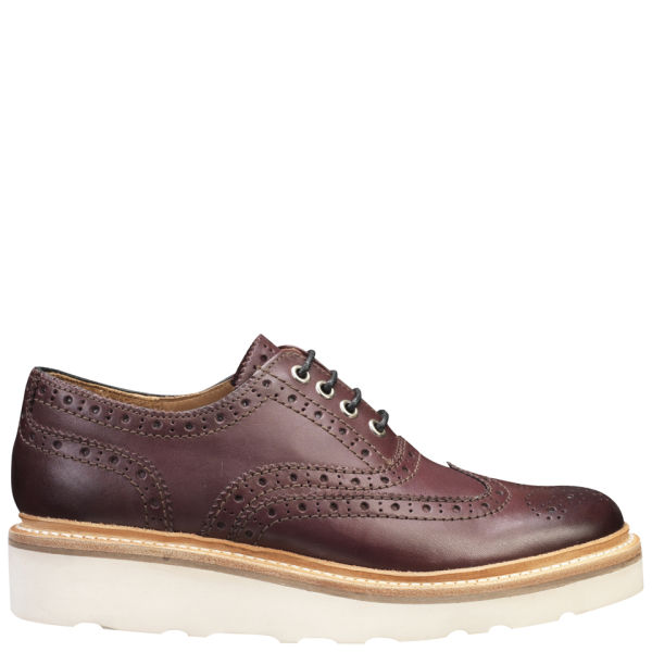 Grenson Women's Emily V Brogues - Oxblood