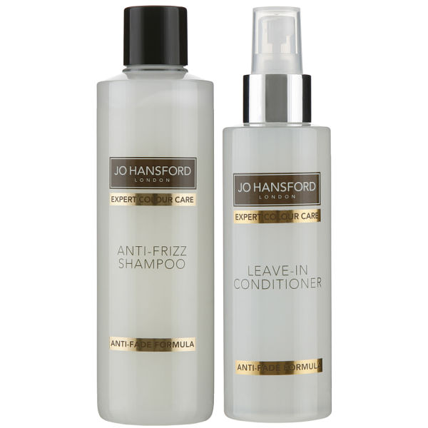 Jo Hansford Expert Color Care Anti Frizz Shampoo (250ml) with Protect and Shine Leave In Conditioner (150ml)