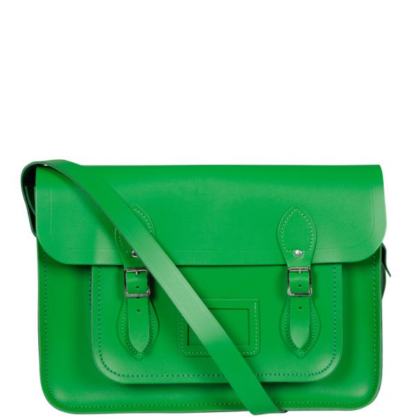 f0683664d25cc The Cambridge Satchel Company 14 Inch Leather Satchel - Green  Image 1