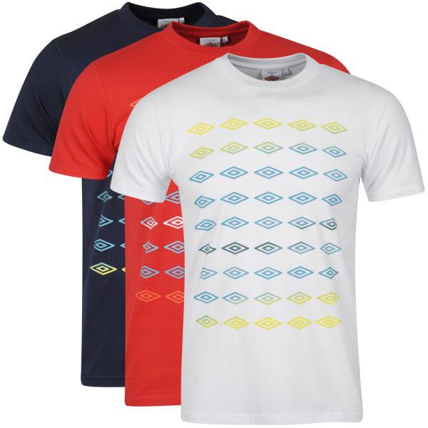 Umbro Men's 3-Pack T-Shirts - White / Red / Dark Navy