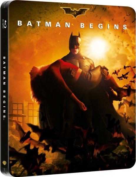 Batman Begins  Limited Edition Steelbook Blu ray Zavvicom - Christian Home Decor Store