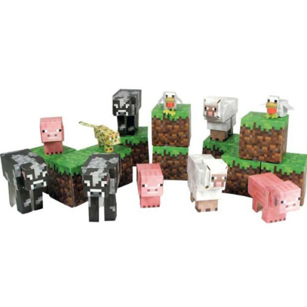 Minecraft - Papercraft Over 30 Piece Sets