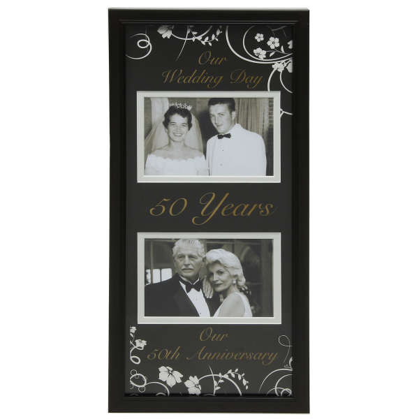 Moments Now And Then Picture Frame 50th Wedding Anniversary
