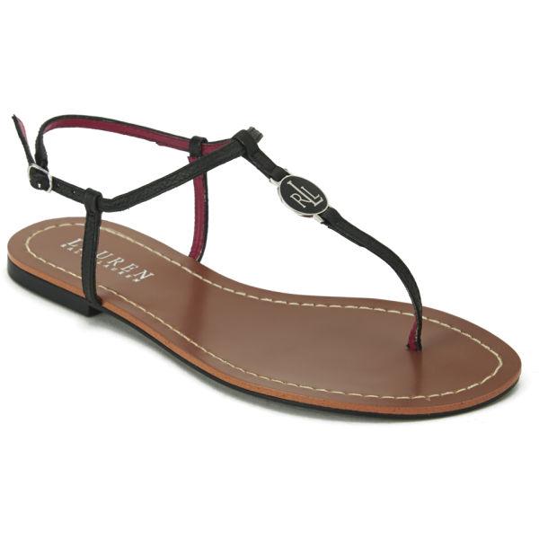Lastest Unze Women Sandals Evening Flat Sandals  Black