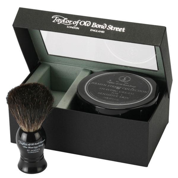 Taylor of Old Bond Street Jermyn Street Pure Badger Brush et crème de rasage Bowl Set
