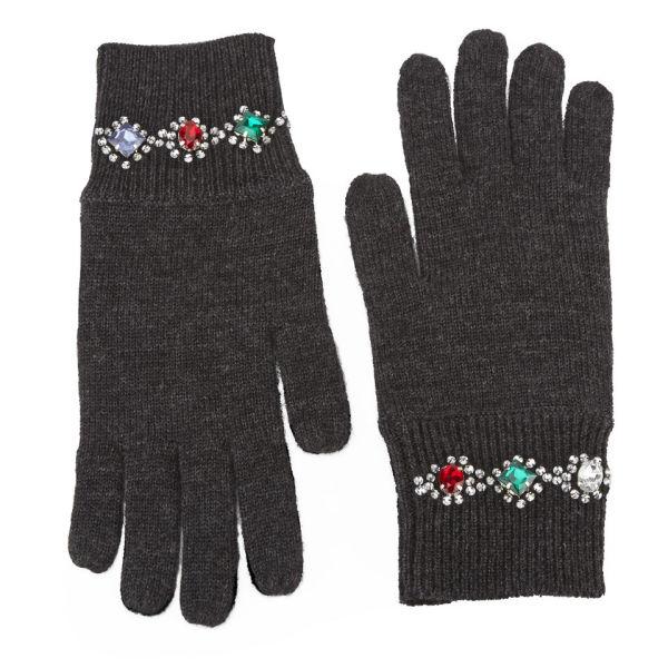 Markus Lupfer Jewel Bracelet Gloves - Charcoal
