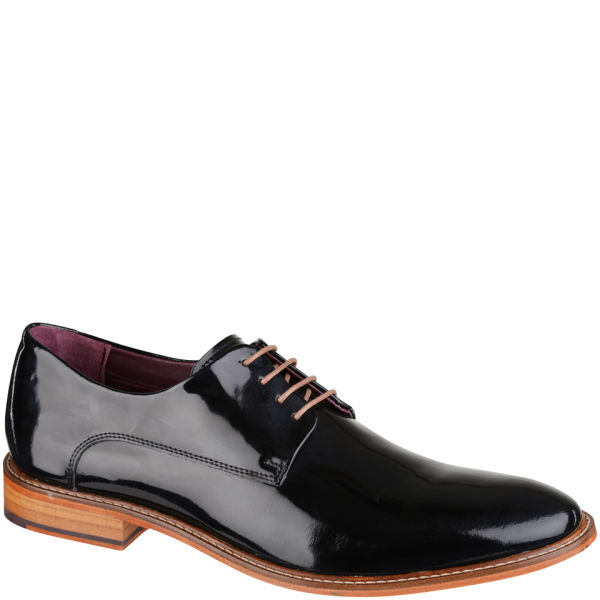 09dd5f5d6147 Ted Baker Men s Etter 2 Patent Derby Style Shoes - Black  Image 1