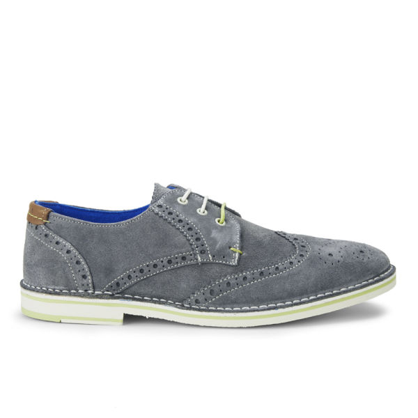 Ted Baker Men S Jamfro 3 Suede Brogues Grey Free Uk