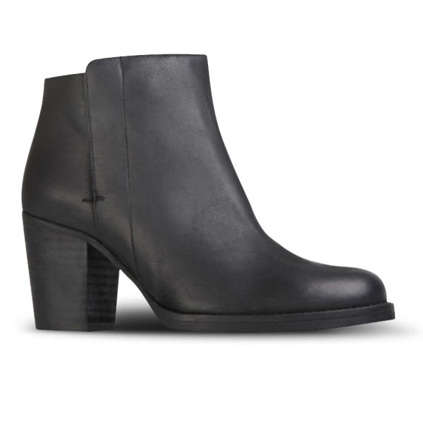 Kurt Geiger Women's Soda Heeled Leather Ankle Boots - Black - FREE ...