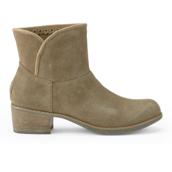 UGG Women's Darling Suede Heeled Ankle Boots - Chestnut