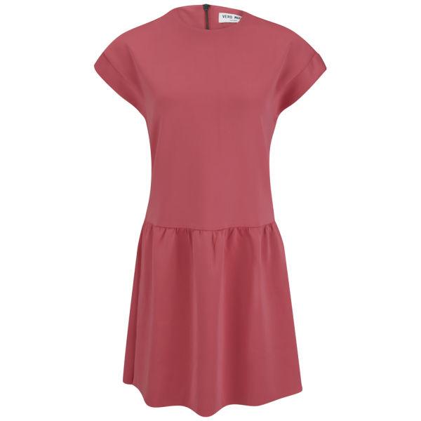 Vero Moda Women's Boboline Scuba Mini Dress - Pink