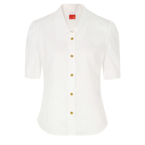 Vivienne Westwood Red Label Women's DL0162 Chinzed Boile Shirt - White
