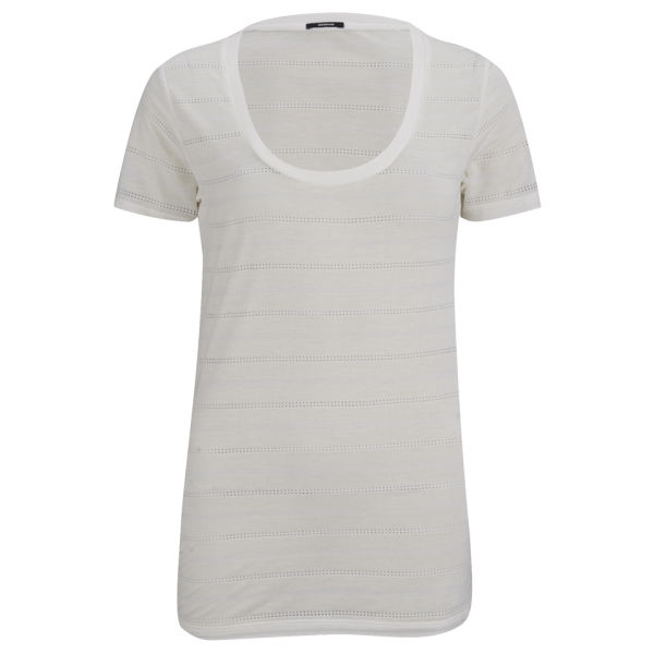 Denham Women's Striped T-Shirt - Chalk