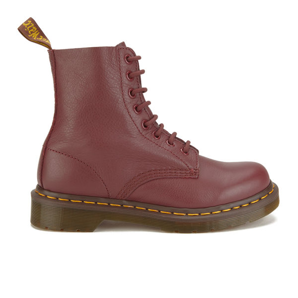Dr. Martens Women's Core Pascal Virginia Leather 8-Eye Lace Up Boots - Cherry Red