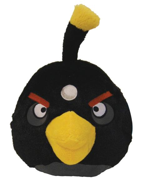 Angry Birds Toys With Sound : Angry birds inch plush black bird with sound iwoot