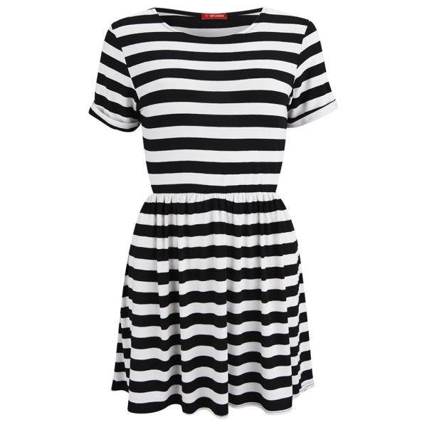 Influence Women's Striped Dress - Black