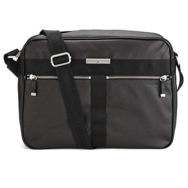 3b7c78e3b9 Tommy Hilfiger Men's Coated Canvas Darren Messenger Bag - Black: Image 1