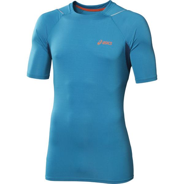 Asics Men's Race Short Sleeve Running Top - Atlantic Blue