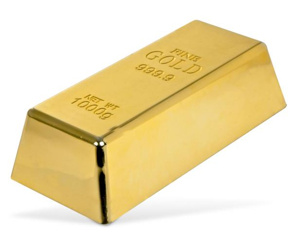 Gold Bullion Doorstop IWOOT