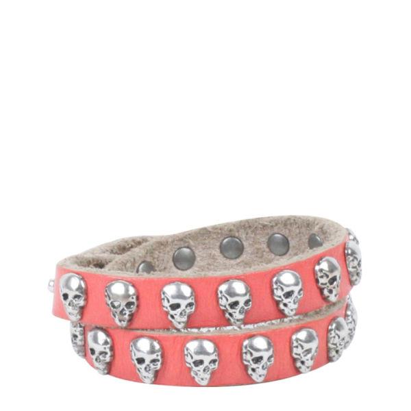 Markberg Graziella Leather Bracelet - Coral