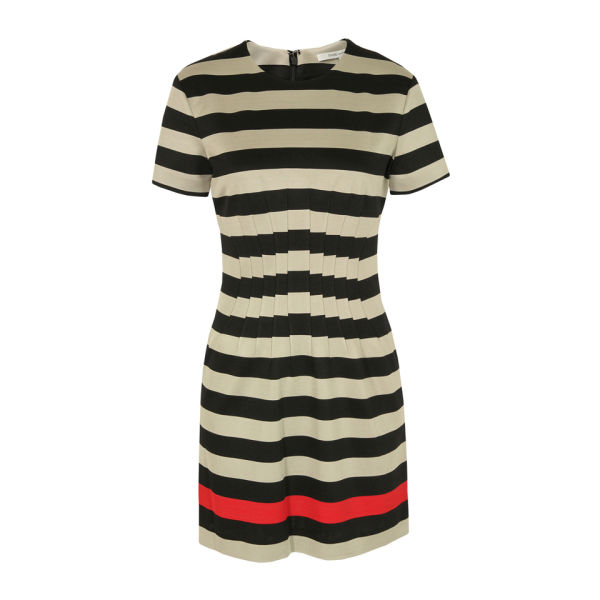 Diane von Furstenberg Women's Yazmine Jersey Dress - Black and Red