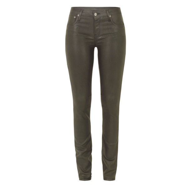 Helmut Lang Women's Gloss Wash 5 PKT Skinny Jeans - Mud Grey