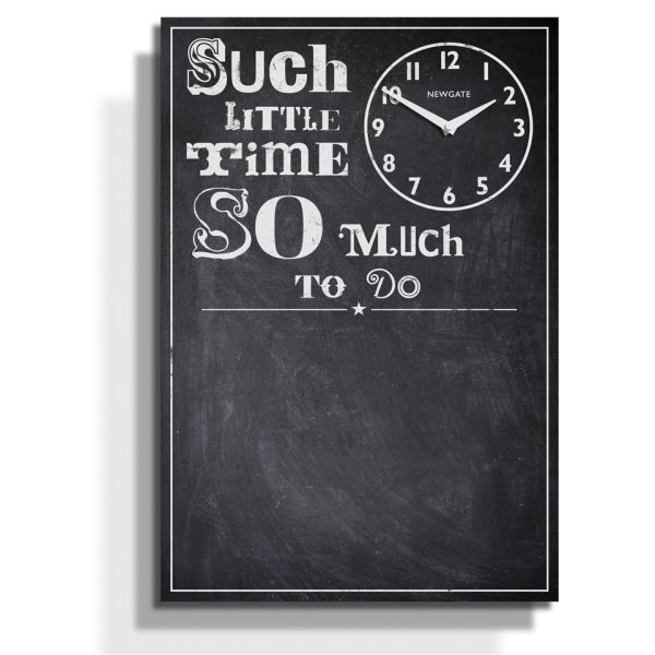 So Much To Do Chalkboard Memo Clock