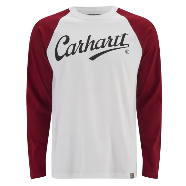 Carhartt men 39 s league long sleeve t shirt white alabama for Carhartt long sleeve t shirts white