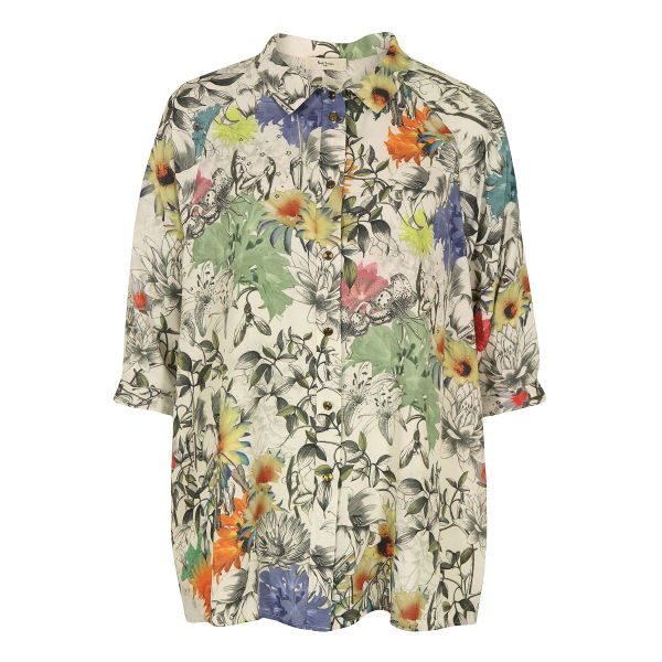 Paul by Paul Smith Women's F378 Collage Floral Shirt - Multi