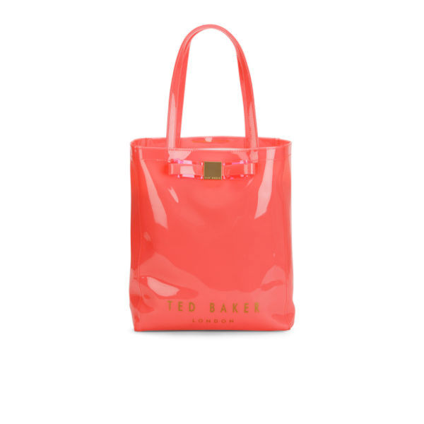 b247e6b10 Ted Baker Women s Solcon Bow Plastic Large Tote Bag - Pink  Image 1