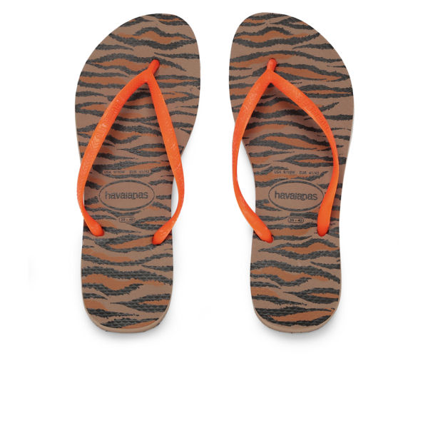 Havaianas Women's Animal Fluorescent Flip Flops - Orange