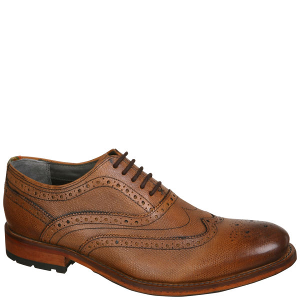 e694ecca09444 Ted Baker Men s Guri 5 Leather Wingcap Oxford Brogues - Tan  Image 1