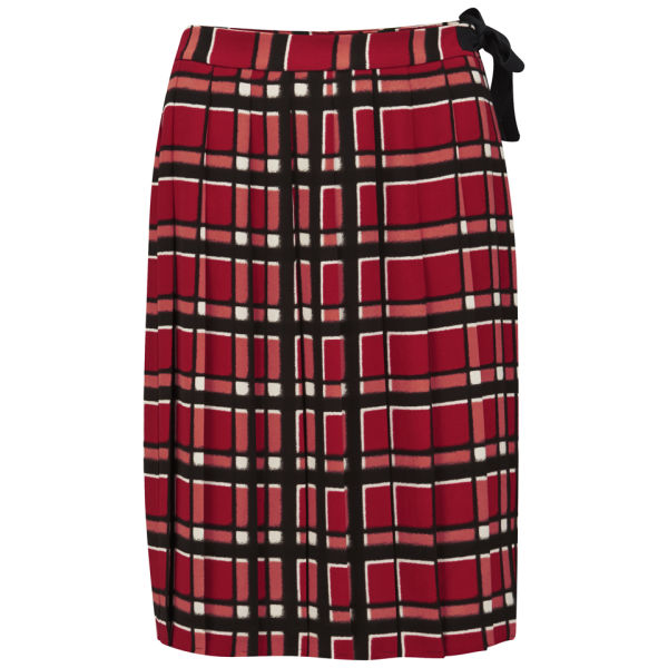Marc by Marc Jacobs Women's Toto Plaid Pleated Skirt - Cambridge Red Multi