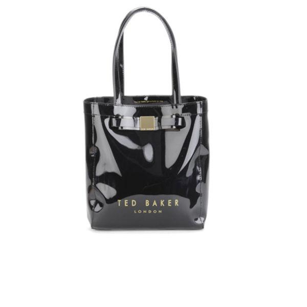 d127e6c23bd Ted Baker Women's Salcon Bow Plastic Small Tote Bag - Black: Image 1