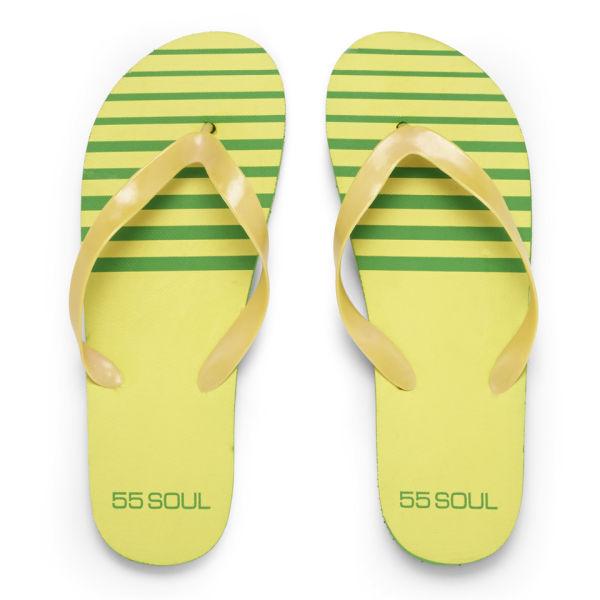 55 Soul Men's Flip Flops - Yellow