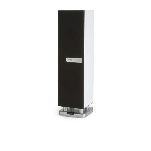 Intempo Table Top Bluetooth Tower Speaker - White Electronics
