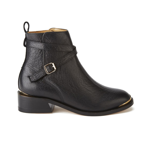 Purified Women's Patti 10 Leather Ankle Boots - Black